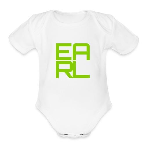 Earl Logo Baby (Green) - Organic Short Sleeve Baby Bodysuit