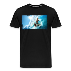 Shark Surfing Bear (mens)  - Men's Premium T-Shirt