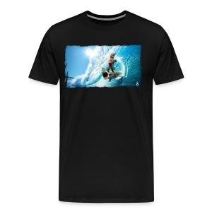 Shark Surfing Bear (mens)  - Men's Premium T-Shirt
