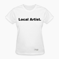 LOCAL aRTIST WHITE TEE WOMAN
