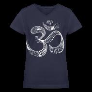 T-Shirts ~ Women's V-Neck T-Shirt ~ Women's Om Symbol Vneck