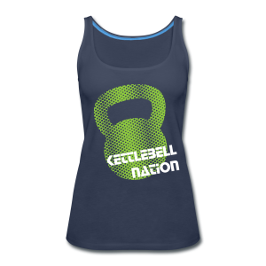 Kettlebell Green Halftone Tanks - Women's Premium Tank Top