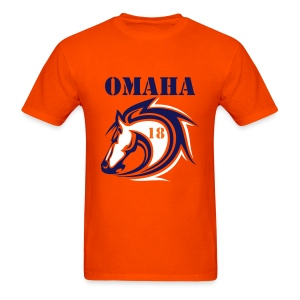 Omaha Bronco 18 2 Sided - Men's T-Shirt