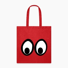 Funny Eyes, Funny Face, Comic Eyes Bags & backpacks