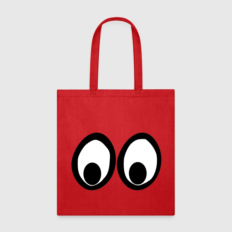 Funny Eyes, Funny Face, Comic Eyes Bags & backpacks - Tote Bag