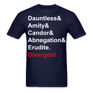 T-Shirts ~ Men's T-Shirt ~ DIvergent facions shirt 2