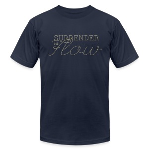Lizards ~ Surrender to the Flow ( *Front & Back ) - Men's Fine Jersey T-Shirt