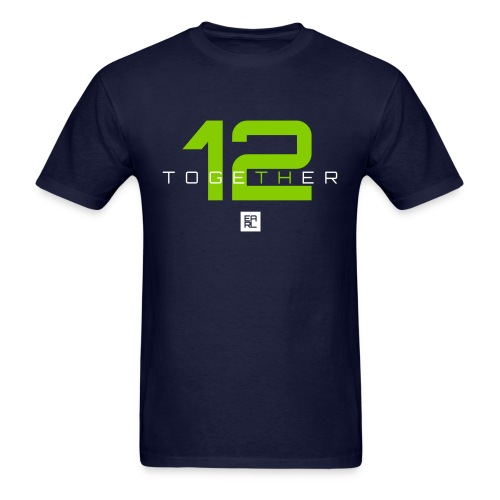 Together Easy Fit (Green/White) - Men's T-Shirt