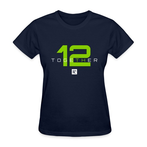 Together Easy Fit (Green/White) - Women's T-Shirt