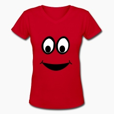 Funny Eyes, Funny Face, Comic Face, Smiley Women's T-Shirts