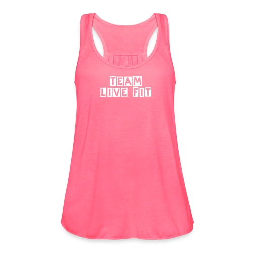 Team Live Fit  - Women's Flowy Tank Top by Bella