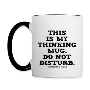 Thinking Mug - Contrast Coffee Mug