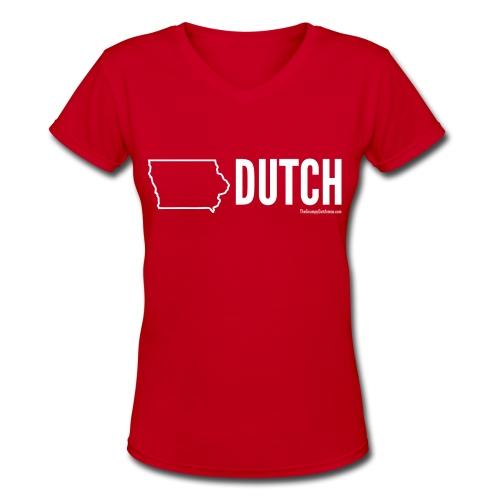 Iowa Dutch (white) - Women's V-Neck T-Shirt
