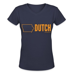 Iowa Dutch (orange) - Women's V-Neck T-Shirt