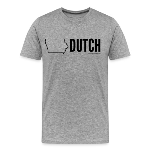 Iowa Dutch (black) - Men's Premium T-Shirt