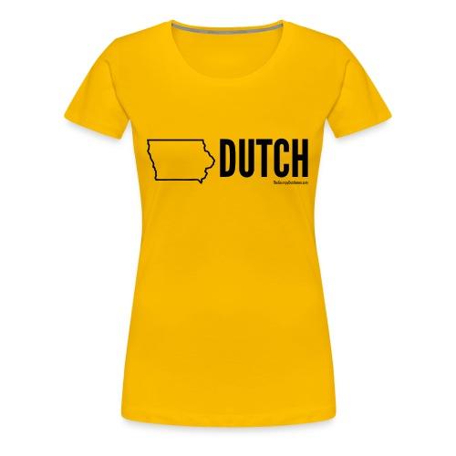 Iowa Dutch (black) - Women's Premium T-Shirt