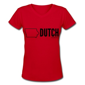 Iowa Dutch (black) - Women's V-Neck T-Shirt