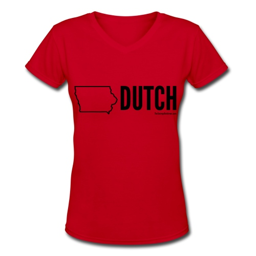 Iowa Dutch (black) - Women's V-Neck T-Shirt