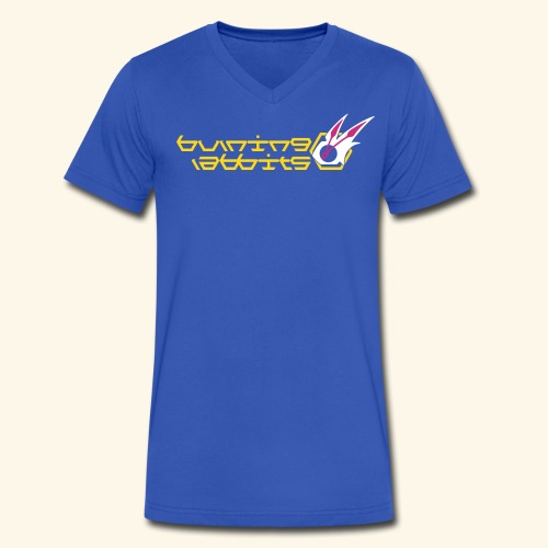 Burning Rabbits (free shirtcolor selection) - Men's V-Neck T-Shirt by Canvas