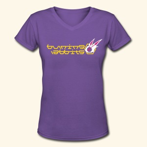 Burning Rabbits (free shirtcolor selection) - Women's V-Neck T-Shirt