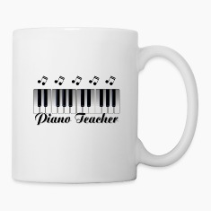 Piano Teacher Bottles & Mugs