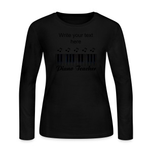 Piano Teacher Women's Long Sleeve Jersey T-Shirt - Women's Long Sleeve Jersey T-Shirt