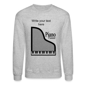 Piano Tuner Men's Crewneck Sweatshirt - Crewneck Sweatshirt