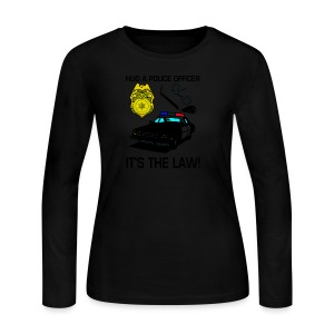 Hug A Police Officer Women's Long Sleeve T-Shirt - Women's Long Sleeve Jersey T-Shirt