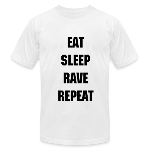 Eat Sleep Rave Repeat T Shirt - Men's Fine Jersey T-Shirt