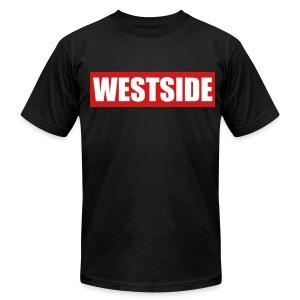 WestSide Tee/ LA on Sleeves - Men's Fine Jersey T-Shirt
