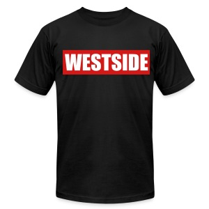 WestSide Tee/ LA on Sleeves - Men's Fine Jersey T-Shirt