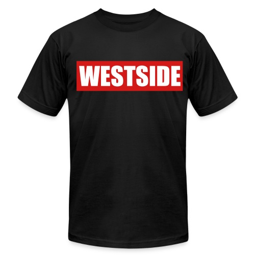 WestSide Tee/ LA on Sleeves - Men's T-Shirt by American Apparel