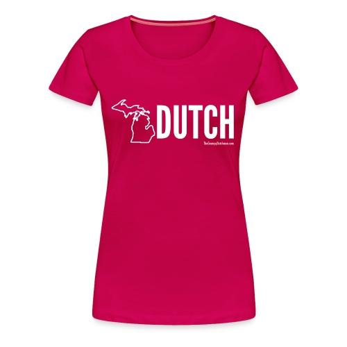 Michigan Dutch (white) - Women's Premium T-Shirt