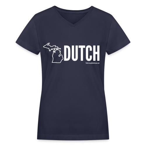 Michigan Dutch (white) - Women's V-Neck T-Shirt
