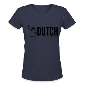 Michigan Dutch (black) - Women's V-Neck T-Shirt