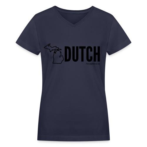 Michigan Dutch (black) - Women's V-Neck T-Shirt