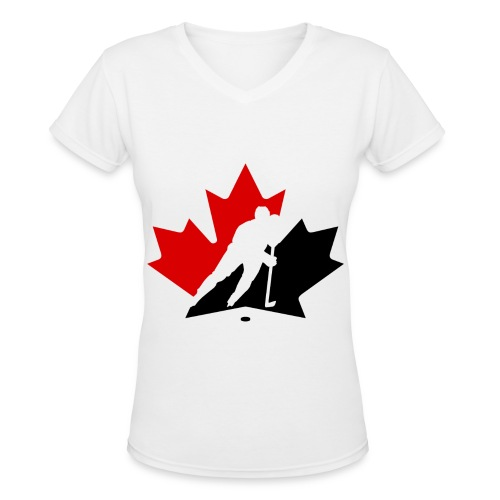 Ladies Canada V - Women's V-Neck T-Shirt