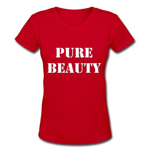 Pure Beauty V - Women's V-Neck T-Shirt