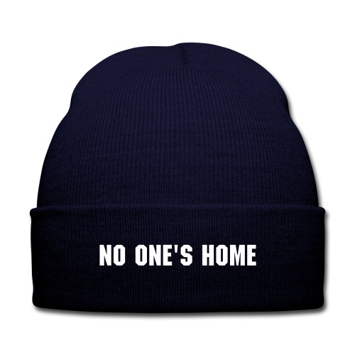 'No One's Home' Beanie - Knit Cap with Cuff Print