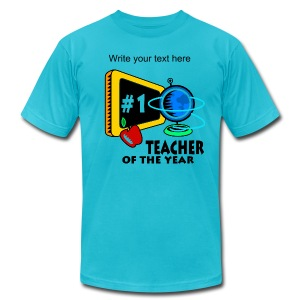 Teacher Of The Year Men's T-Shirt - Men's T-Shirt by American Apparel