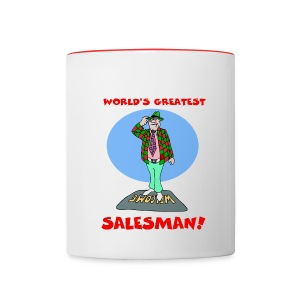 World's Greatest Salesman Coffee Mug - Contrast Coffee Mug