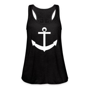 Flow tank with anchor  green - Women's Flowy Tank Top by Bella