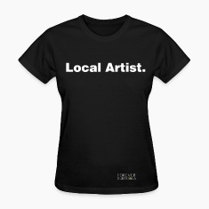 LOCAL ARTIST black TEE WOMAN