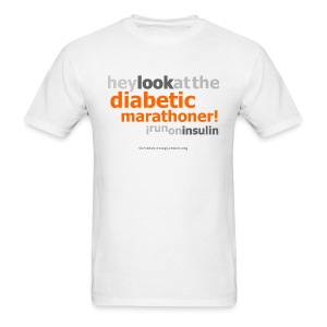Look At The Diabetic Marathoner!-Mens - Men's T-Shirt
