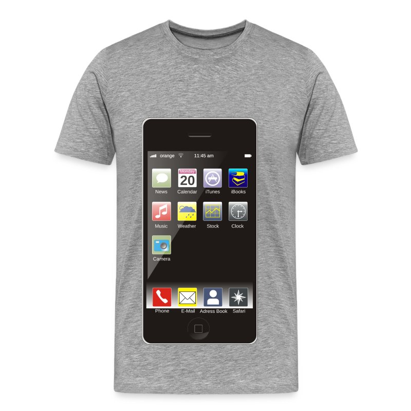 Smartphone with apps t shirt spreadshirt Apps to design t shirts