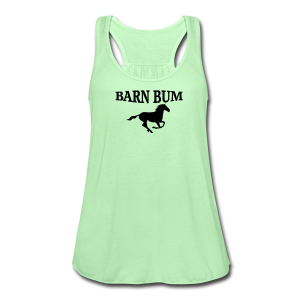 Barn Bum with horseshoe  sea green  - Women's Flowy Tank Top by Bella