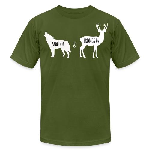 Men's's Padfoot & Prongs T-Shirt (White Logo) - Men's Fine Jersey T-Shirt