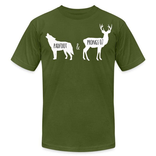 Men's's Padfoot & Prongs T-Shirt (White Logo)