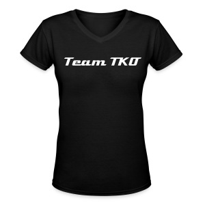 Team TKO Ladies T V-3 - Women's V-Neck T-Shirt
