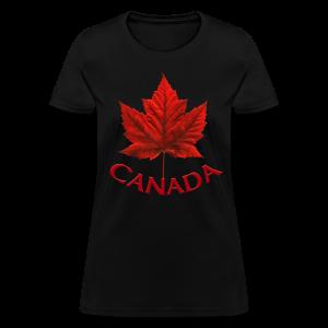 Women's Canada T-shirt Souvenir Canadian Maple Leaf Ladies Shirt - Women's T-Shirt